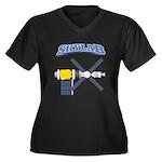 Skylab Space Station Women's Plus Size V-Neck Dark