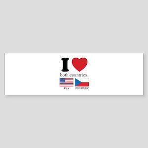 USA-CZECH REBUPLIC Sticker (Bumper)