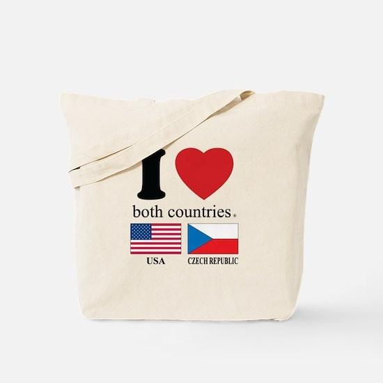 USA-CZECH REBUPLIC Tote Bag
