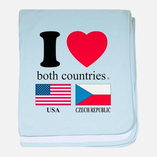 USA-CZECH REBUPLIC baby blanket