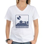 Lunar Engineering Women's V-Neck T-Shirt