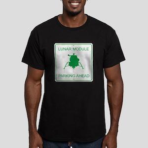 Lunar Module Parking Men's Fitted T-Shirt (dark)