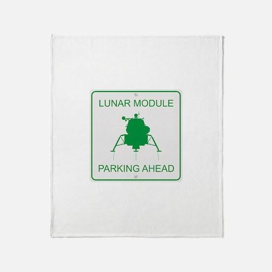 Lunar Module Parking Throw Blanket