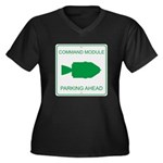 CM Parking Women's Plus Size V-Neck Dark T-Shirt