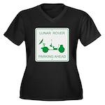 LRV Parking Women's Plus Size V-Neck Dark T-Shirt