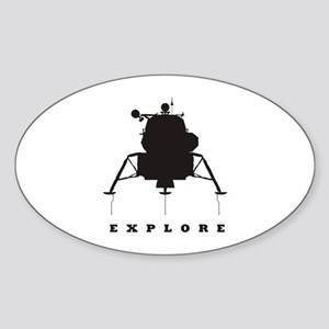 Lunar Module / Explore Sticker (Oval)