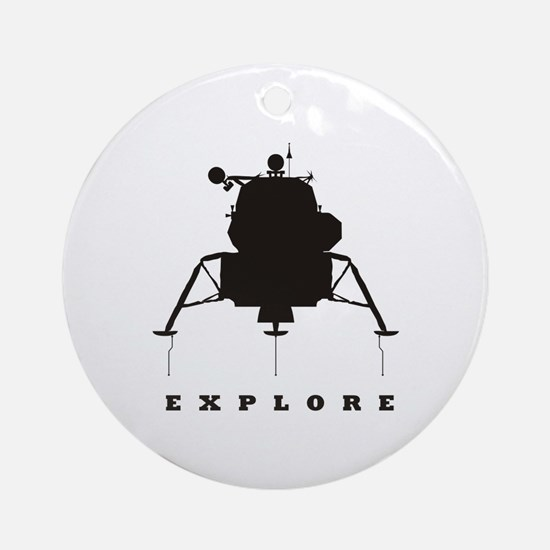 Lunar Module / Explore Ornament (Round)