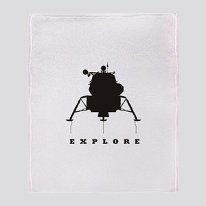 Lunar Module / Explore Throw Blanket
