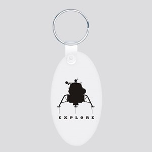 Lunar Module / Explore Aluminum Oval Keychain