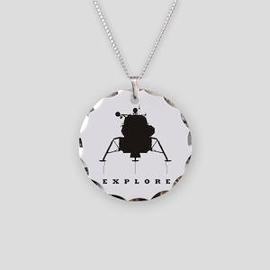 Lunar Module / Explore Necklace Circle Charm