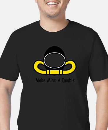 Make Mine A Double Men's Fitted T-Shirt (dark)