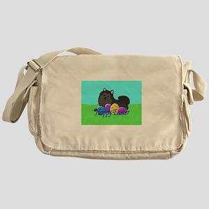 Black Pomeranian Messenger Bag