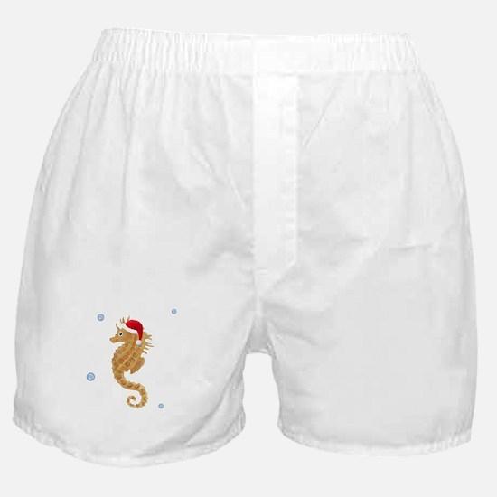 Santa - Seahorse Boxer Shorts