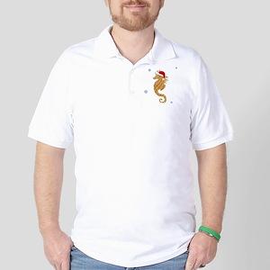 Santa - Seahorse Golf Shirt