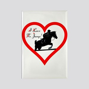 I Love To Jump! Horse Rectangle Magnet