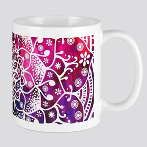 Namaste Red Purple Blue Mandala Mugs