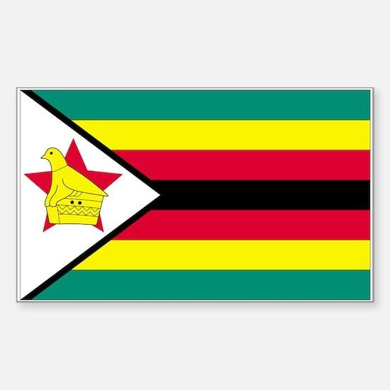 Zimbabwe Rectangle Decal