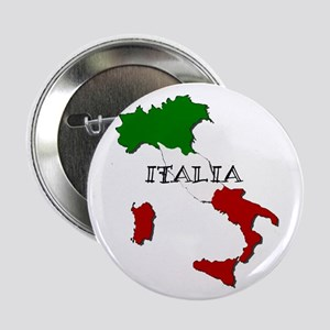 """Italy Flag Map 2.25"""" Button"""