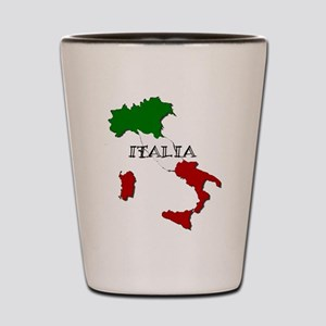 Italy Flag Map Shot Glass