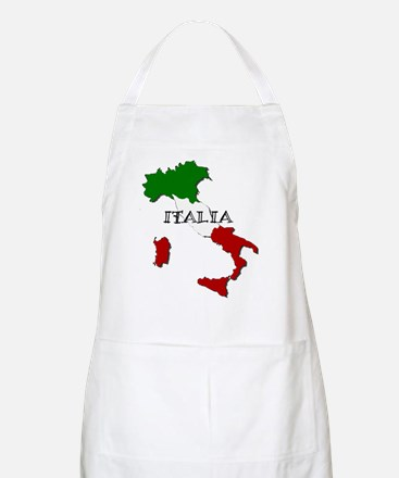 Italy Flag Map Apron