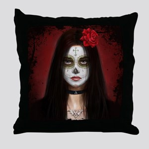 Pretty Dead Throw Pillow
