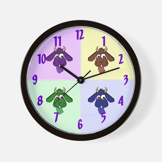 Pop Art Goats Wall Clock