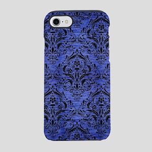 DAMASK1 BLACK MARBLE & BLUE BR iPhone 7 Tough Case