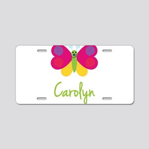 Carolyn The Butterfly Aluminum License Plate