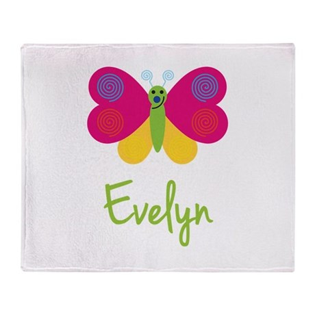 Evelyn The Butterfly Throw Blanket