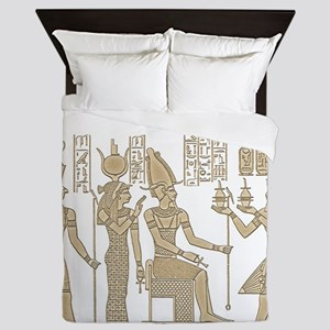 Vintage Egyptian Panel Queen Duvet