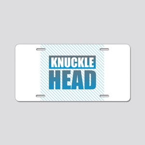 Knuckle Head Aluminum License Plate