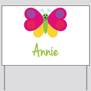 Annie The Butterfly Yard Sign