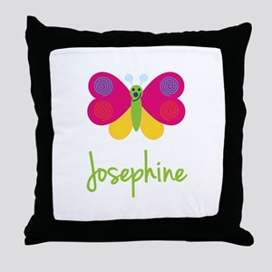 Josephine The Butterfly Throw Pillow
