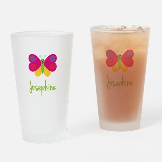 Josephine The Butterfly Drinking Glass