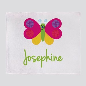 Josephine The Butterfly Throw Blanket