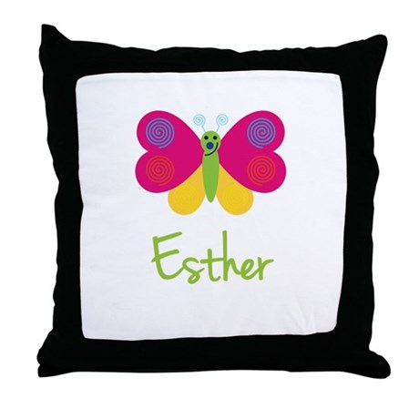 Esther The Butterfly Throw Pillow