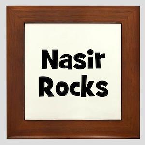 Nasir Rocks Framed Tile