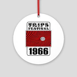 Trips Festival 1966 Retro Ornament (Round)