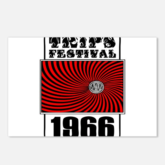 Trips Festival 1966 Retro Postcards (Package of 8)