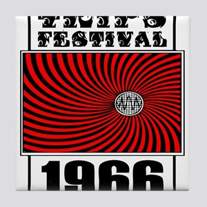 Trips Festival 1966 Retro Tile Coaster