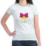 Leslie The Butterfly Jr. Ringer T-Shirt
