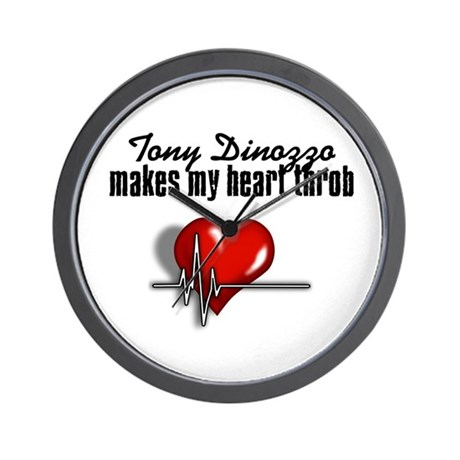 Tony Dinozzo makes my heart throb Wall Clock