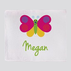 Megan The Butterfly Throw Blanket