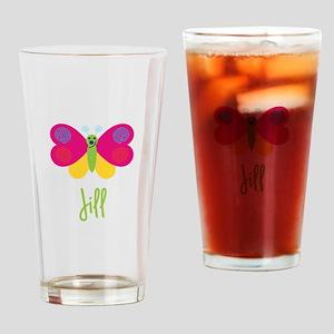 Jill The Butterfly Drinking Glass