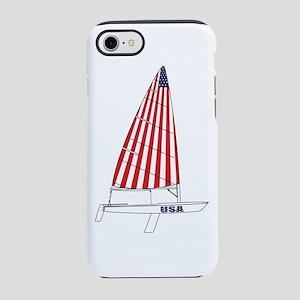 USA Dinghy Sailing iPhone 7 Tough Case