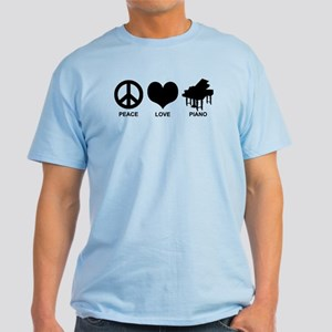 Peace Love Piano Light T-Shirt