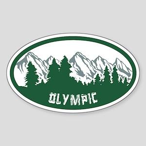 Olympic Natl Park Sticker (Oval)