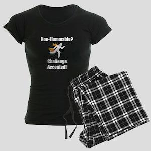 Non Flammable Women's Dark Pajamas