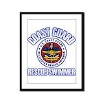 Rescue Swimmer Framed Panel Print