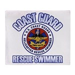 Rescue Swimmer Throw Blanket